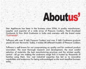 Brochure made for Tuffware - a Cookware Brand.
