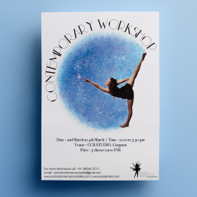 Contemporary Dance Workshop Poster