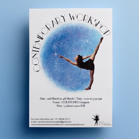 Contemporary Dance Workshop Poster