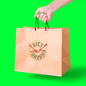 Brown paper bags for healthy eats and healthy cheats by Diet Tamasha