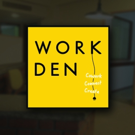 Logo created for WorkDen - A co-working space in Bangalore.