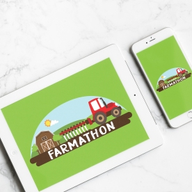 Logo for a farming app created by Mahindra