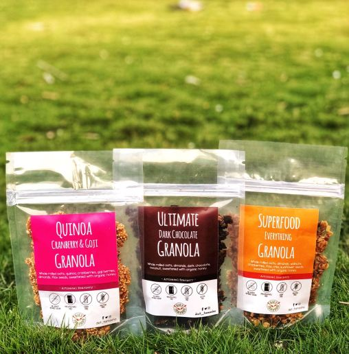Labels made for Granola Snackibles